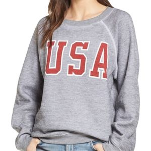 Wildfox USA Baggy Beach Jumper Pullover Sweatshirt